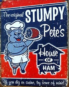 Stumpy Petes Ham Tin Sign 13 x 16in *** Visit the image link more details. Note:It is Affiliate Link to Amazon.