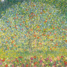 """""""Árvore de Maçãs"""" (''Pommiers''), obra-prima de 1912 de Gustav Klimt. Veja mais em: http://semioticas1.blogspot.com.br/2012/12/inventando-abstracao.html"""