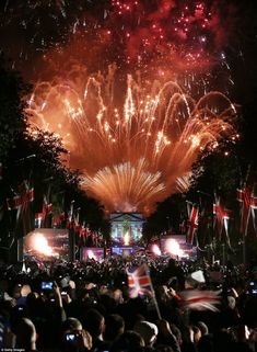 Fireworks over Buckingham Palace for the Diamond Jubilee Concert