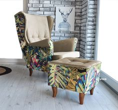 Upholstered Chairs, Wingback Chair, Armchair, Parker Knoll Chair, Knoll Chairs, Living Room Grey, Living Room Interior, Funky Furniture, Furniture Decor