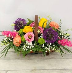 Vibrant Basket of Flowers: Booker Flowers and Gifts Flowers For You, Summer Flowers, Same Day Flower Delivery, Flowers Delivered, Flower Basket, Season Colors, Liverpool, Vibrant Colors, Floral Wreath