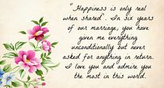 Wedding anniversaries are celebrated to commemorate love. Garb the romantic & lovely collection of wedding anniversary wishes for husband - cute quotes & messages with images. Anniversary Wishes For Boyfriend, Anniversary Quotes For Him, Wedding Anniversary Wishes, 6th Anniversary, Anniversary Gifts For Couples, Husband Quotes, Cute Quotes, In This World, Give It To Me