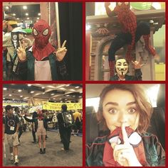 Maisie had 2 costumes. | 8 Celebrities In Disguise At Comic-Con 2014. Even famous people need to buy action figures and posters.