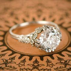 Old Diamond New Ring Vintage Engagement Rings Lexington Ky Platinum Engagement Rings, Best Engagement Rings, Beautiful Engagement Rings, Vintage Engagement Rings, Vintage Rings, Halo Engagement, Vintage Silver, Affordable Engagement Rings, Colored Engagement Rings