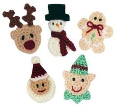 Christmas Applique Set No.2 - PDF Crochet Pattern. $4.95, via Etsy.