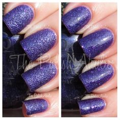 **OPI [Liquid Sand] - Can't Let Go (Mariah Carey 'Stage Shades' Collection Spring 2013) / ThePolishAholic [No Top Coat - Left / With Top Coat - Right]
