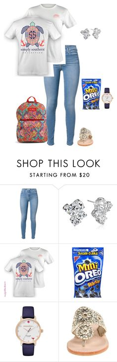 """comment good songs"" by jackelinhernandez ❤ liked on Polyvore featuring 7 For All Mankind, Kate Spade, Jack Rogers and Vera Bradley"