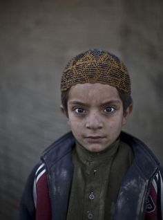 Allam Ahmad, age 6, an Afghan refugee now living in Islamabad, Pakistan - Found via Buzzfeed