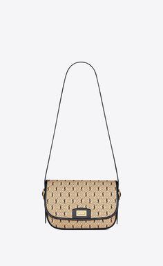 MONOGRAM ALL OVER medium satchel in canvas | Saint Laurent United Kingdom | YSL.com Stylish Handbags, Fashion Handbags, Purses And Handbags, Ysl, Fendi, Saint Laurant, Yves Saint Laurent, Bag Closet, Chanel
