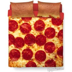 Pizza Bed Duvet Cover and Pillowcase Combo