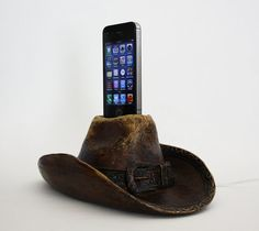 Cowboy Hat iPhone Charger - iPhone 4, iPhone 4S, or iPhone 5 Dock - Docking Station