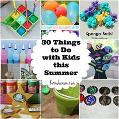 30 Things To Do With Kids This Summer! Keep your kids busy with these summer activities! No one will be complaining about being bored!