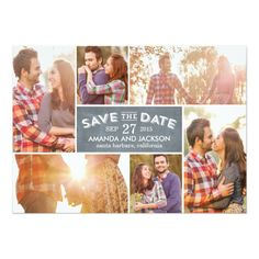 Photo Showcase Save The Date - Chalkboard 5x7 Paper Invitation Card