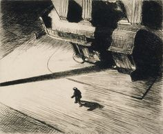 nickkahler: Edward Hopper, Night Shadows, 1921