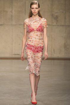 Fashion East- Ashley Williams -Love this print!