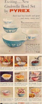 """""""Exciting... New Cinderella Bowl Set by PYREX"""""""