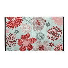 doodle flowers ipad cases by Ancellos_Textures