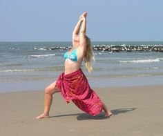 Warrior One Pose On The Beach by Immie Dijkstra » Yoga Pose Weekly