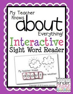 Interactive Sight Word Readers allow students to read and spell sight words in a meaningful and engaging way. Perfect for Teacher Appreciation Day! This is an emergent reader to provide students with an opportunity to learn to read and spell the sight word about in a hands-on way.