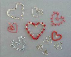 Wire Bead Hearts by BIEYE