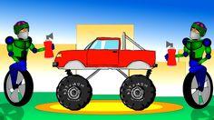Monster trucks and Robots for children kids. Learn <em>грузовая машина раскраска дети</em> colors, learn to coun...