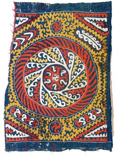 Kaitag embroidery 2ft. 11in. x 2ft. 2in. Caucasus 18th century Cotton ground, silk embroidery