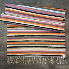Kehrääjä-matto, keltainen 2,4m   Weecos Self Love Quotes, Loom Weaving, Recycled Fabric, Scandinavian Style, Woven Rug, Rag Rugs, Beach Mat, Pattern Design, Recycling