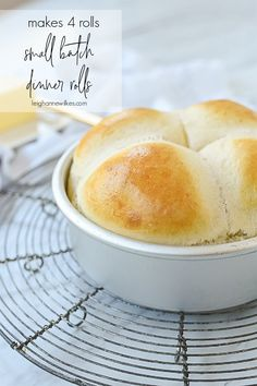 Cooking For One, Batch Cooking, Cooking Recipes, Bread Recipes, Quick Dinner Rolls, Dinner Rolls Recipe, Recipe For 1, Roll Recipe, Recipe Ideas