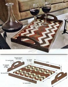 Serving Tray Plans - Woodworking Plans and Projects   WoodArchivist.com