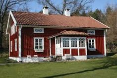 Create an inviting entrance English Cottage Style, English Country Decor, Country Style, Sweden House, Red Houses, Summer Cabins, House In Nature, Red Cottage, Red Roof