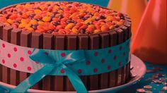 Great birthday cake idea from KIT KAT Wafer Bar...