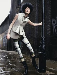 Rebellious Rainy Day Editorials - The 'Tough Love' Editorial Features Gothic Makeup and (VIDEO)