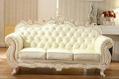 Baroque Furniture, Furniture Sofa Set, Luxury Furniture, Living Room Furniture, French Home Decor, Indian Home Decor, Living Room Sofa Design, Living Room Designs, Antique Living Rooms