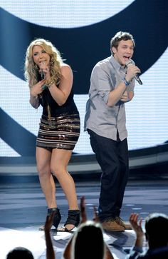 Elise Testone and Phillip Phillips