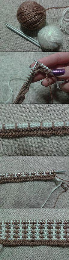 Как избежать протяжек пряжи на изнанке при жаккардовом вязании - Вязание - Моя копилочка