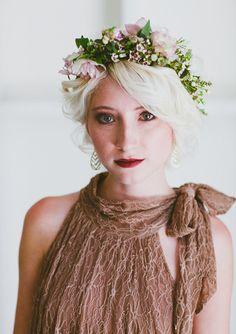 flower crown bridesmaid