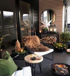 Lüks balkon kış dekorasyonu, şömineli balkon modeli   Kadınca Fikir - Kadınca Fikir