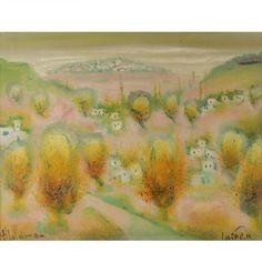 Albert Goldman, Landscape, Oil on Canvas Painting.