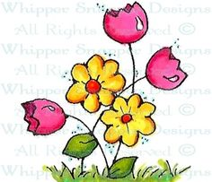 Mini Flowers - Whimsical - Floral/Garden - Rubber Stamps - Shop