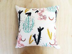 Coral Garden 40 cm Pillow Cactus Pillow Screen by DoopsDesigns