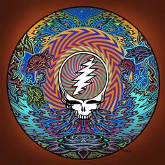 13 Inches x 13 Inches Lithograph Signed By Mike DuBois (Printed On Acid-Free Matte Paper With Archival, Non-Fading Inks) (Individually Poly-Bagged With Acid Free Backing Board). Grateful Dead Skull, Grateful Dead Image, Grateful Dead Poster, Grateful Dead Wallpaper, Phil Lesh And Friends, Dead And Company, Music Artwork, Music Images, Band Posters
