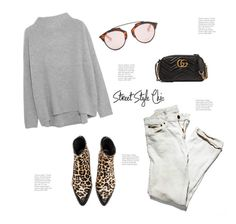 """""""Street Style..."""" by hattie4palmerstone ❤ liked on Polyvore featuring Vince, Zadig & Voltaire, Christian Dior and Gucci"""