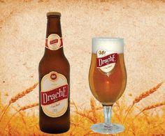 Cerveja Drache Bier Pilsen, estilo Premium American Lager, produzida por Cervejaria Nordeste, Brasil. 4.5% ABV de álcool.