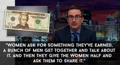 When he talked about how a woman sharing the $10 note with Alexander Hamilton is a reflection of the women's rights movement.