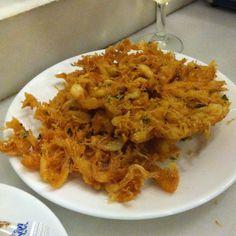 Tortillitas de camarones de Balbino en Sanlucar...las mejores del mundo !!!