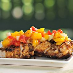 Molasses-Dipped Chicken with Mango Salsa   23 Boneless Chicken Breast Recipes That Are Actually Delicious