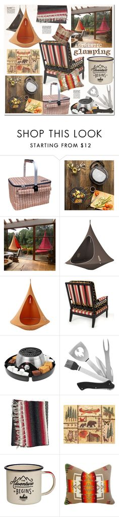 """glamping, the retro way."" by sinesnsingularities ❤ liked on Polyvore featuring interior, interiors, interior design, home, home decor, interior decorating, Cathy's Concepts, Hang-In-Out, Cacoon and Kalorik"