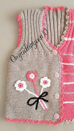 Baby Knitting Patterns, Baby Patterns, Free Knitting, Crochet Poncho With Sleeves, Button Hole Stitch, Knitted Baby Clothes, Baby Cardigan, Knitted Dolls, Buttonholes