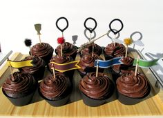 Harry Potter Quidditch Birthday Cupcake Toppers by Kiwi Tini Creations on Etsy. $12.75, via Etsy.