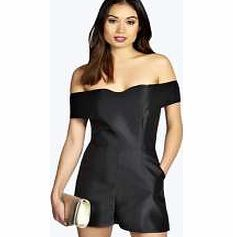 boohoo Claudia Silky Sweetheart Off The Shoulder Strike the balance between sweet and sultry with this silky playsuit - its the perfect addition to any party wardrobe! Style it with barely- there strappy heels , a choker necklace and metallic clutch http://www.comparestoreprices.co.uk/womens-clothes/boohoo-claudia-silky-sweetheart-off-the-shoulder.asp
